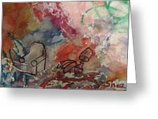 Untitled Watercolor 1998 Greeting Card