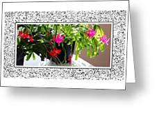Unusual Simultaneous Bloomers 2 Greeting Card