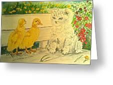 Unwelcome Kitty Greeting Card