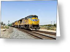 Up 8587 Southbound From Traver Greeting Card