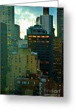 Up - Skyscrapers Of New York Greeting Card