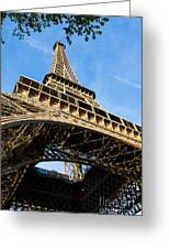 Up The Eiffel Tower 1 Greeting Card