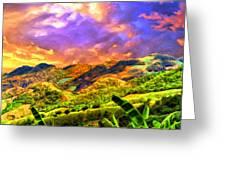 Upcountry Maui Sunset Greeting Card