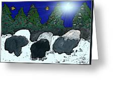 Upon A Midnight Clear Greeting Card
