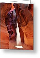 Upper Antelope Canyon Sunbeam Greeting Card