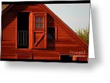 Upper Barn Door-3704 Greeting Card