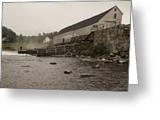 Upper Dam Gatehouse II Greeting Card