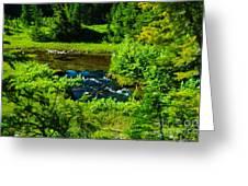 Upper Dewey Creek Greeting Card