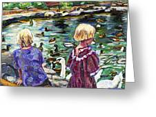 Upper Duck Pond Greeting Card