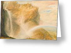 Upper Fall Of The Reichenbach - Rainbow Greeting Card