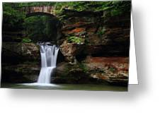 Upper Falls At Hocking Hills State Park Greeting Card