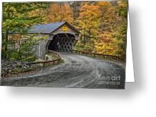 Upper Falls Covered Bridge Greeting Card