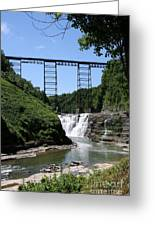 Upper Falls Of The Genesee River  Greeting Card