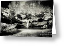 Upper Falls Old Mans Cave In Infrared Greeting Card