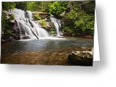 Upper Falls On Moccasin Creek Greeting Card