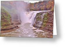 Upper Falls On The Genesee River Greeting Card