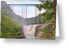Upper Falls Under The Portage Bridge Greeting Card