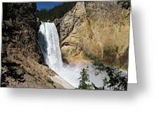 Upper Falls Yellowstone National Park Greeting Card