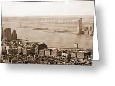 Upper New York Bay Vintage Greeting Card