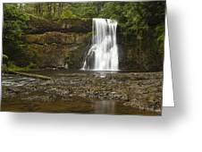 Upper North Silver Falls 1 Greeting Card