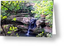 Upper Old Mans Cave Falls Greeting Card