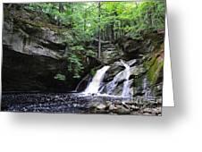 Upper Purgatory Falls - Wide Greeting Card
