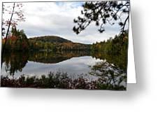 Upper Saranac Bay In Fall Greeting Card