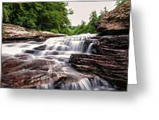 Upper Swallow Falls Close Up Greeting Card