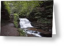Upper Tier Of Mohican Falls Greeting Card
