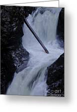 Upper Twin Falls Close Greeting Card
