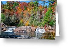 Upper Twin Falls Greeting Card