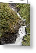 Upper Twin Falls Steps Greeting Card