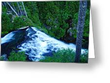 Upper View Of Narada Falls Greeting Card