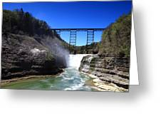 Upper Waterfalls In Letchworth State Park Greeting Card