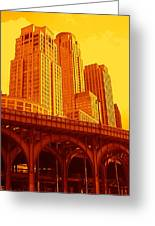 Upper West Side And Hudson River Manhattan Greeting Card