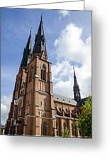 Uppsala Cathedral - Sweden Greeting Card