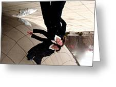 Upside Down At The Bean Greeting Card