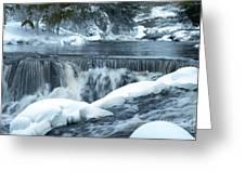 Upstream At Bond Falls Greeting Card