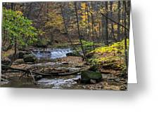 Upstream Bridal Veil Falls Greeting Card