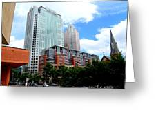 Uptown Charlotte 5 Greeting Card