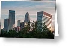 Uptown Charlotte North Carolina Cityscape Greeting Card