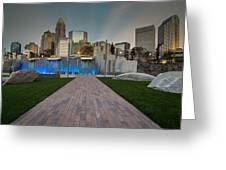 Uptown Charlotte Greeting Card