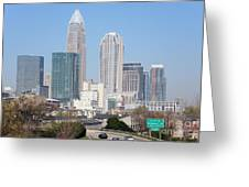 Uptown Charlotte Skyline Greeting Card