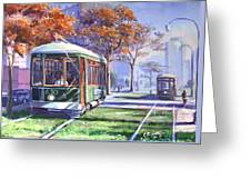 Streetcars Uptown New Orleans Greeting Card