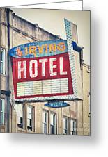 Chicago's Irving Hotel Greeting Card