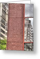 Urban Abstract Downtown Reflections Dayton Ohio Greeting Card