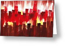Urban Abstract Evening Lights Greeting Card