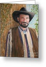 Urban Cowboy  Greeting Card by Terri Maddin-Miller