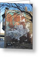 Urban Decay Mural Wall 4 Greeting Card