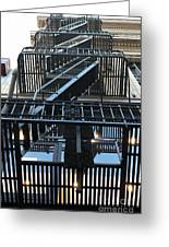 Urban Fabric - Fire Escape Stairs - 5d20592 Greeting Card